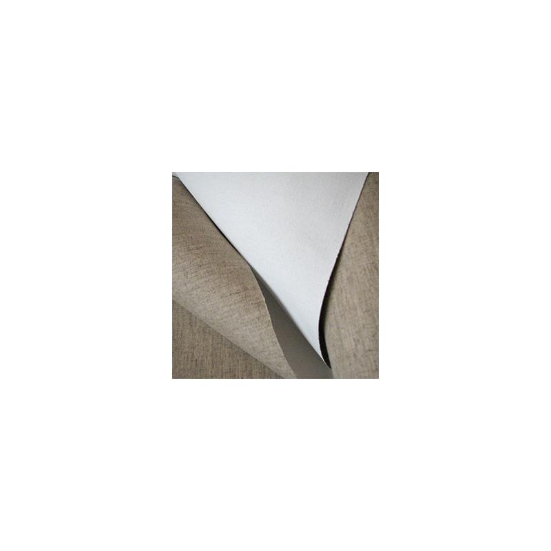 Rouleau de toile mixte lin polyester apprêtée Pontaven