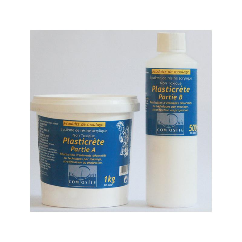 Résine acrylique plasticrète