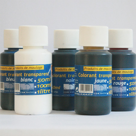 Colorants transparents sans solvant pour résines