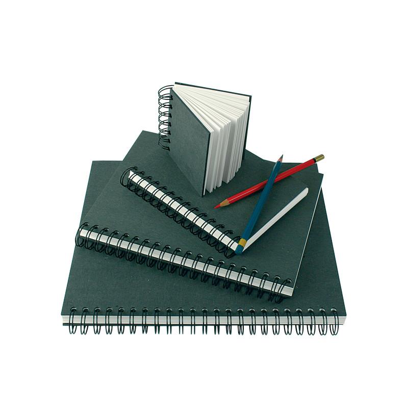 Cahier spiralé à papier velouté pour dessin