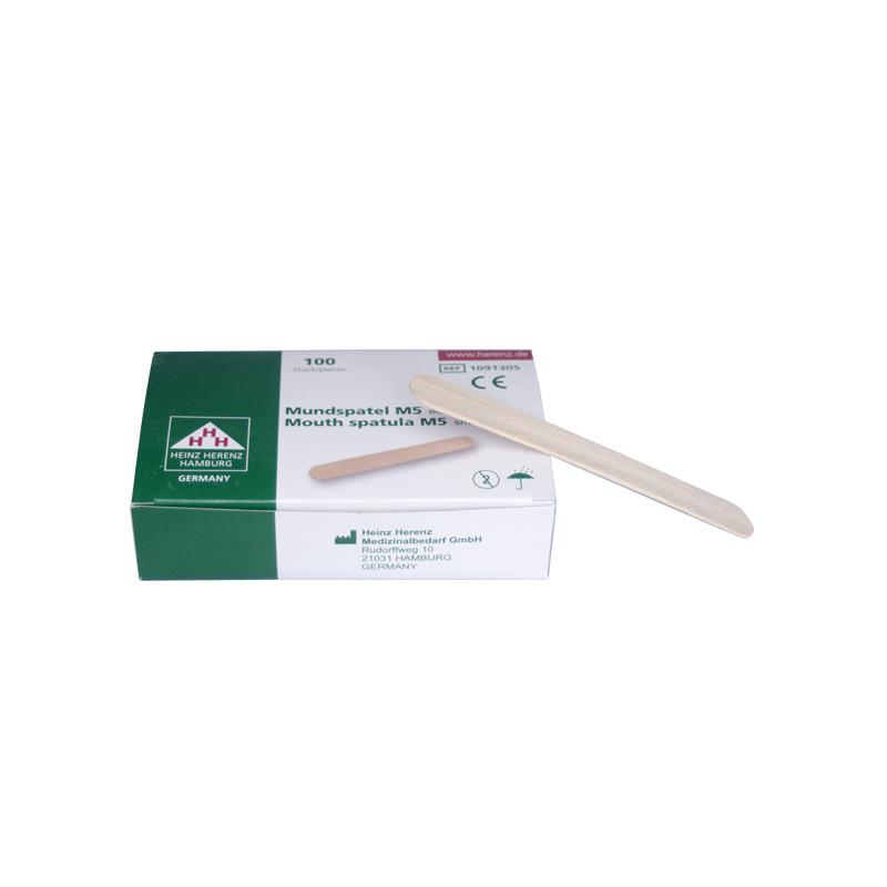 Boîte d'abaisse-langue en bois