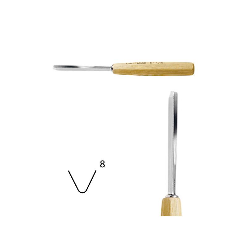 Outils de sculpture forme droite série 14 pied de chevalet 55°