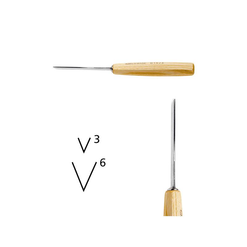 Outils de sculpture forme droite série 15 pied de chevalet 45°