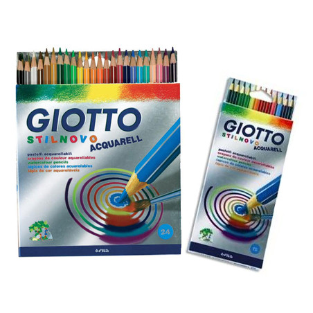 Crayons de couleurs aquarellables Stilnovo Giotto