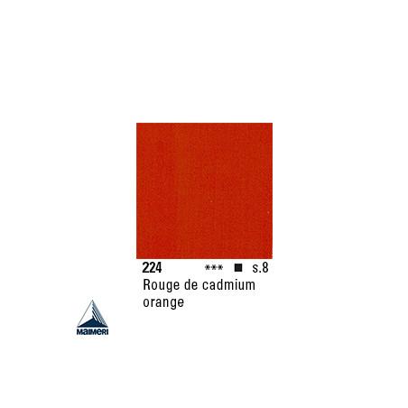 ARTISTI HUILE EX FINE S8 224 20ML ROUGE  CADMIUM ORANGE