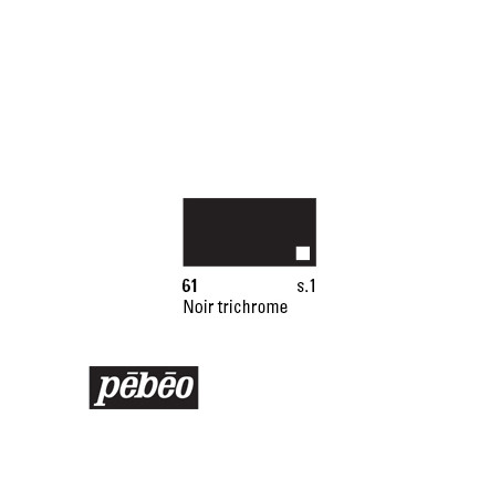 PEBEO COLOREX 45ML 61 NOIR TRICHROME
