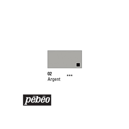 PEBEO GOUACHE STUDIO 100ML ARGENT PRODUIT SUP