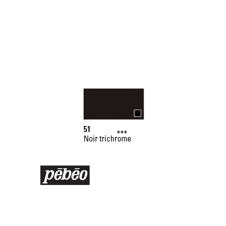PEBEO GOUACHE STUDIO 100ML NOIR TRICHROME