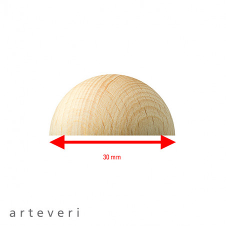 ARTEVERI DEMI SPHERE 30X15MM 30 PIECES