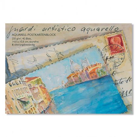 Bloc 40 cartes postales pour aquarelle