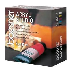SET 5X100 ML ACRYL STUDIO BOESNER