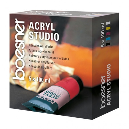 SET 5X100 ML ACRYL STUDIO BOESNER