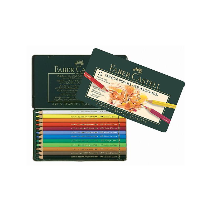 Coffret de crayons de couleur Polychromos Faber Castell