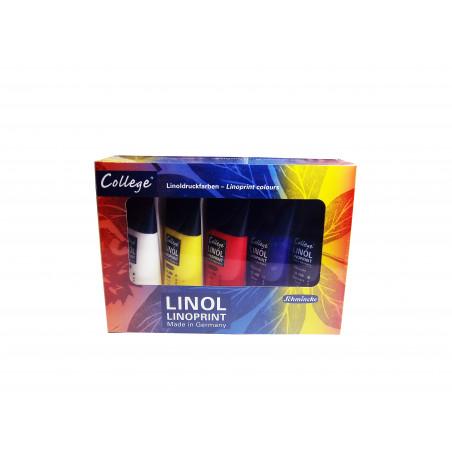 Set 5 tubes encre linogravure