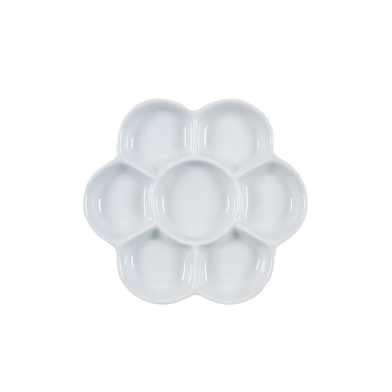 Palette porcelaine en forme de fleur pour aquarelle Boesner