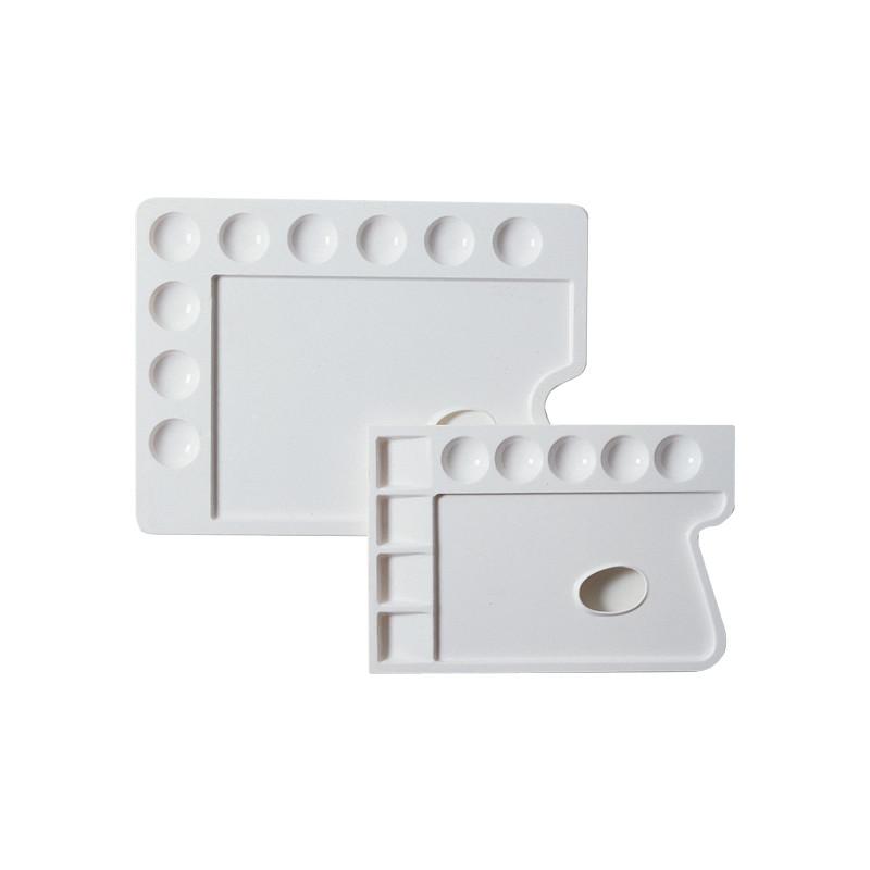Palettes rectangulaires en plastique pour peinture