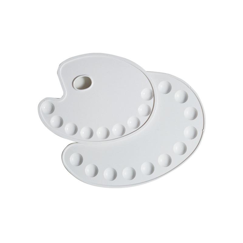 Palettes ovales en plastique pour peinture