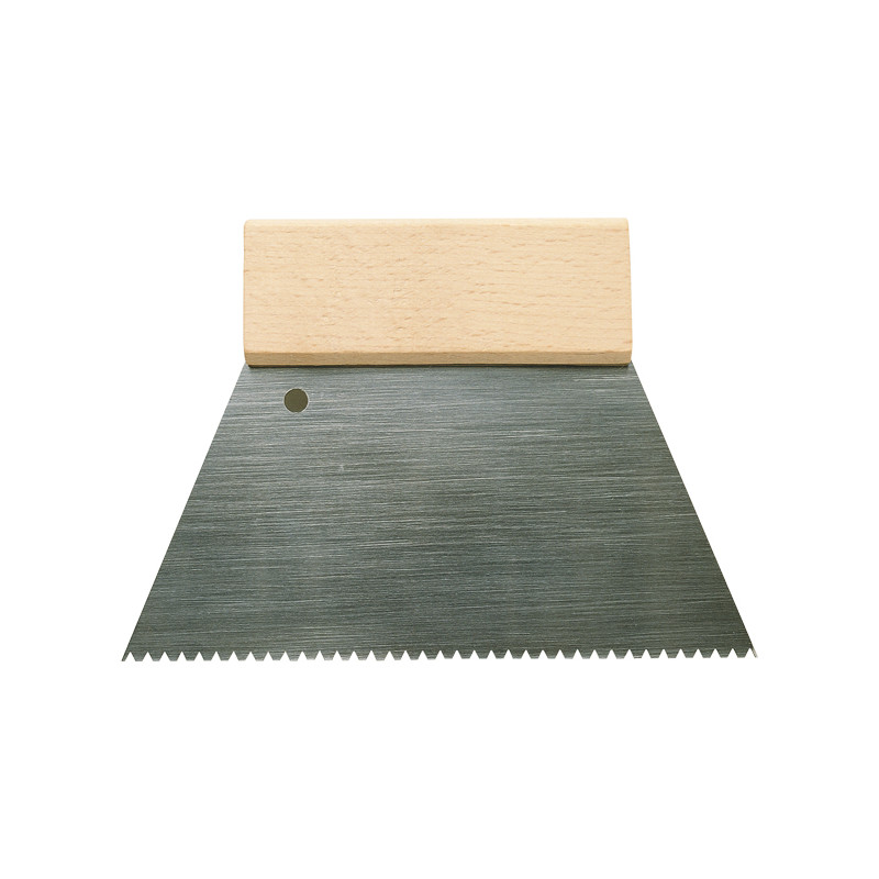 Spatule crantée métal et bois