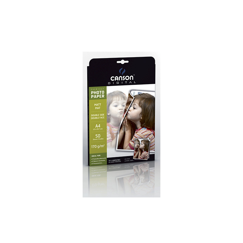 POCH 50FL  EVERYDAY CANSON DOUBLE SIDE A4 170G PHOTO MAT