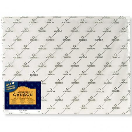 Pack de feuilles papier aquarelle Héritage 3+1