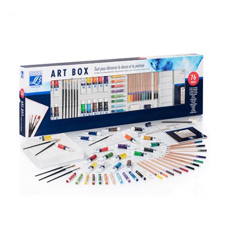 Set de dessin et peinture Art box 76 pièces Lefranc & Bourgeois