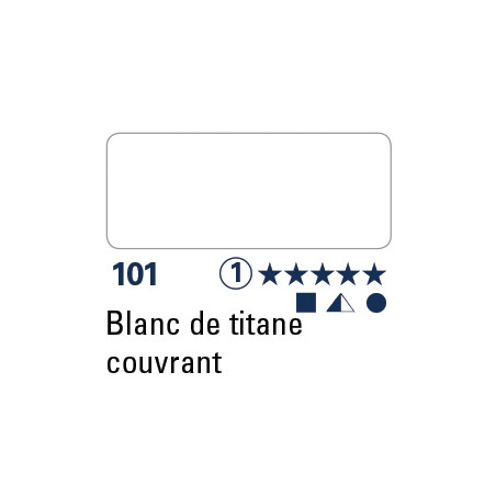 SCHMINCKE DEMI-GODET BLANC DE TITANE COUVRANT S1