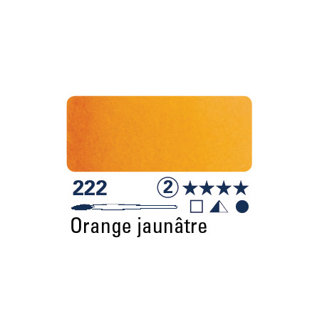 SCHMINCKE AQUARELLE HORADAM S2 222 1/2 GODET JAUNE ORANGE