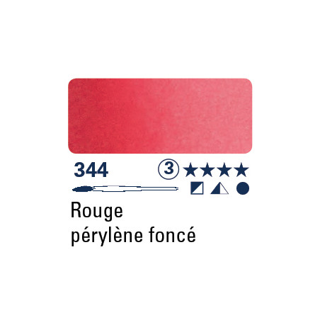 SCHMINCKE AQUARELLE HORADAM S3 344 1/2 GODET ROUGE DE PERYLENE FONCE