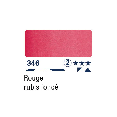 SCHMINCKE AQUARELLE HORADAM S2 346 1/2 GODET ROUGE RUBIS FONCE