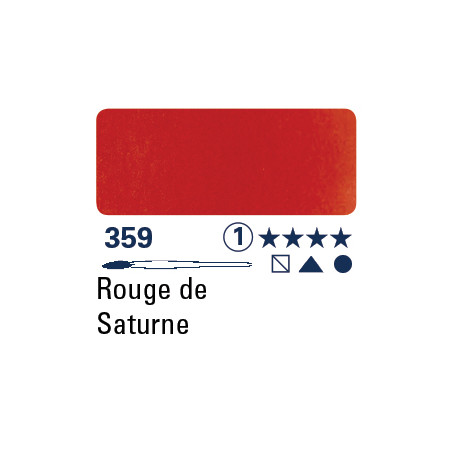 SCHMINCKE AQUARELLE HORADAM S1 359 1/2 GODET ROUGE DE SATURN