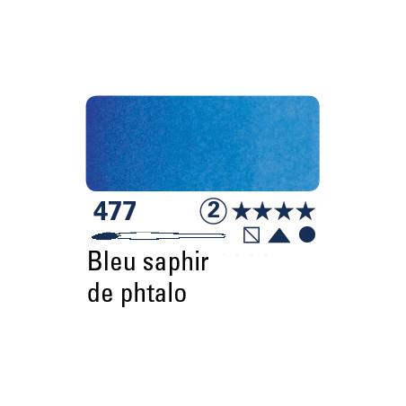SCHMINCKE AQUARELLE HORADAM S2 477 1/2 GODET BLEU SAPHIR DE PHTALO