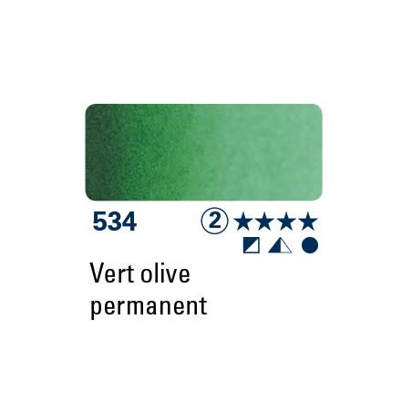 SCHMINCKE DEMI-GODET VERT PERMANENT OLIVE S2