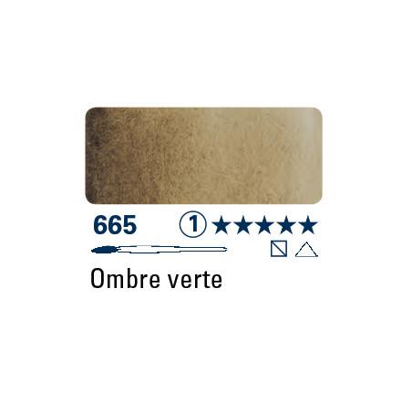SCHMINCKE AQUARELLE HORADAM S1 665 1/2 GODET TERRE D'OMBRE VERT