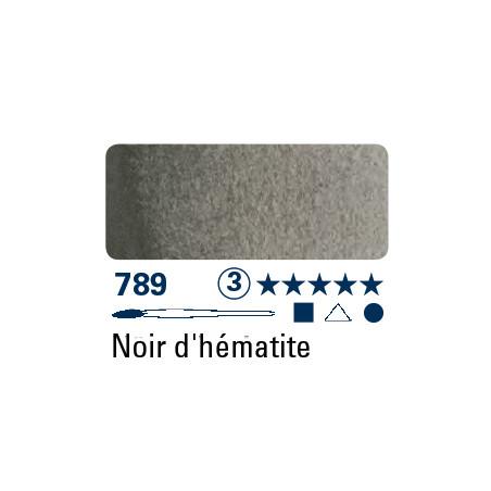 SCHMINCKE AQUARELLE HORADAM S3 789 1/2 GODET NOIR HEMATITE
