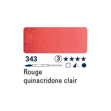 SCHMINCKE AQUARELLE HORADAM S3 343  5ML ROUGE DE QUINACRIDONE CLAIR