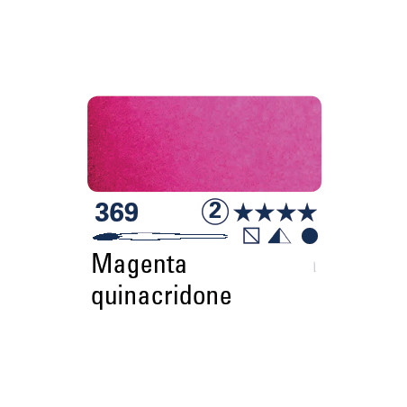 SCHMINCKE AQUARELLE HORADAM S2 369 15ML QUINACRIDONE MAGENTA