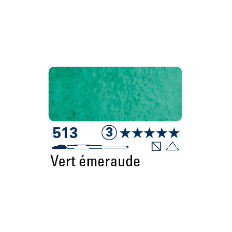 SCHMINCKE AQUARELLE HORADAM S3 513 15ML VERT EMERAUDE