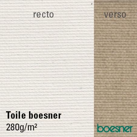 Boesner toile de coton apprêtée 280g/m² en rouleau