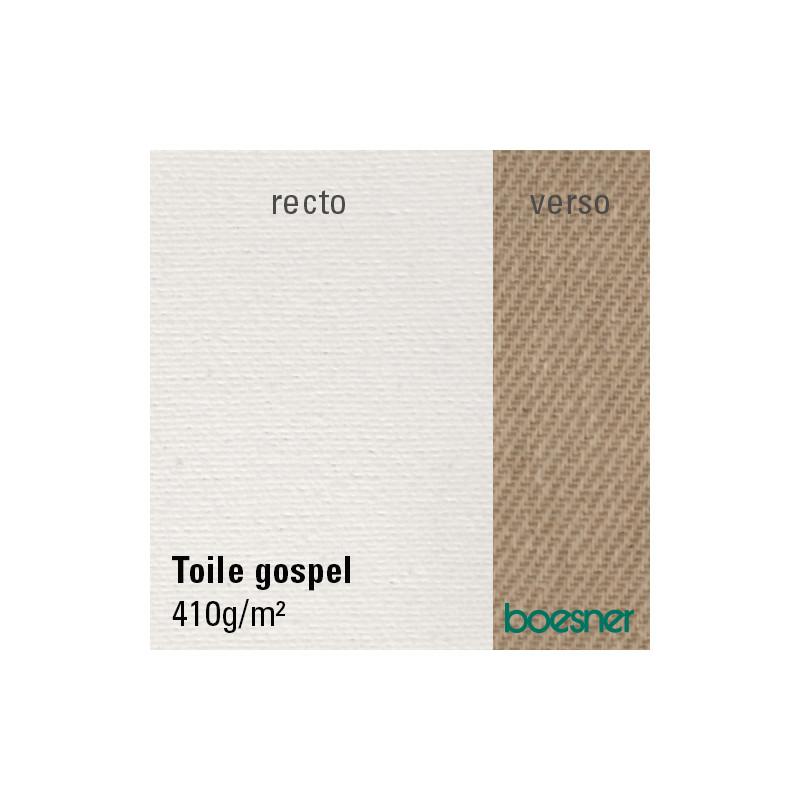 Toile à peindre en coton apprêtée — 410 g/m² — GOSPEL