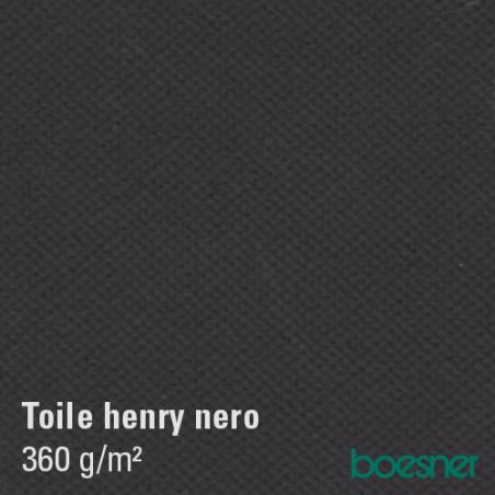 Henry Nero toile de coton apprêtée noire 320g/m²