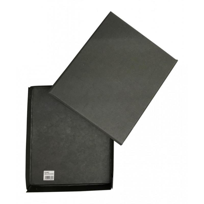 Boîte noire 23 x 28 cm pour ranger les pastels