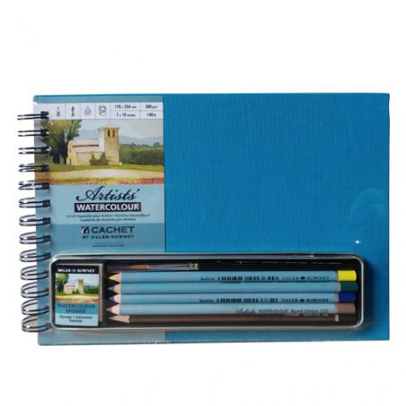 Set carnet aquarelle et crayon aquarelle Daler-Rowney