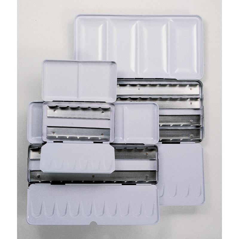 Boîtes pour rangement d'aquarelle en métal