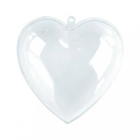 Cœur en plastique transparent