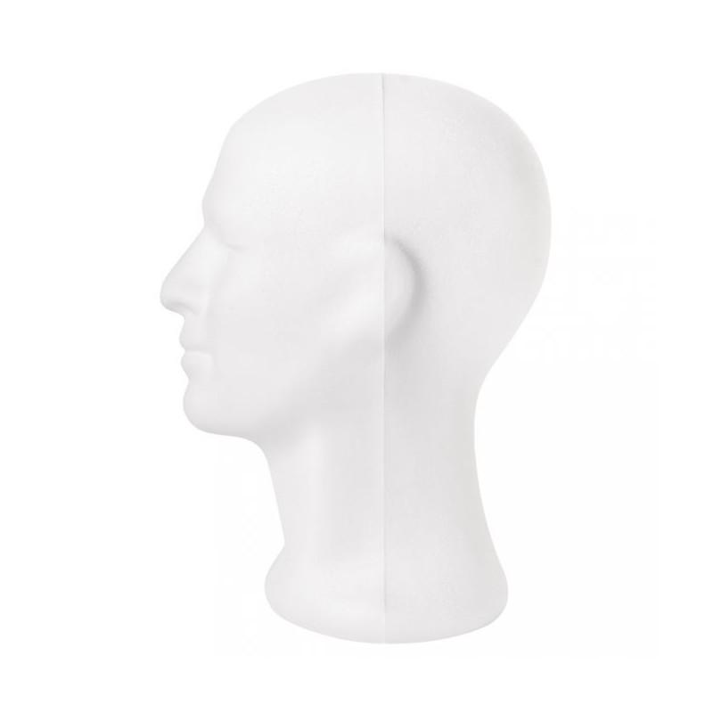 Tête de mannequin homme en Polystyrène