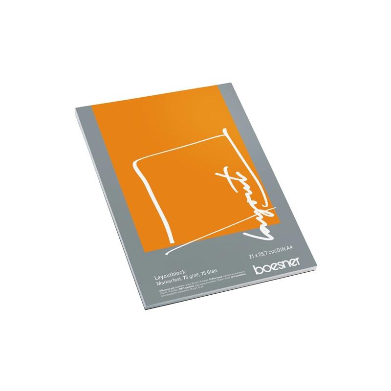 Bloc papier layout 75g/m2 – 75 pages