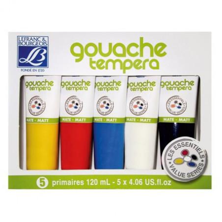 Pack de 5 tubes de gouache tempera