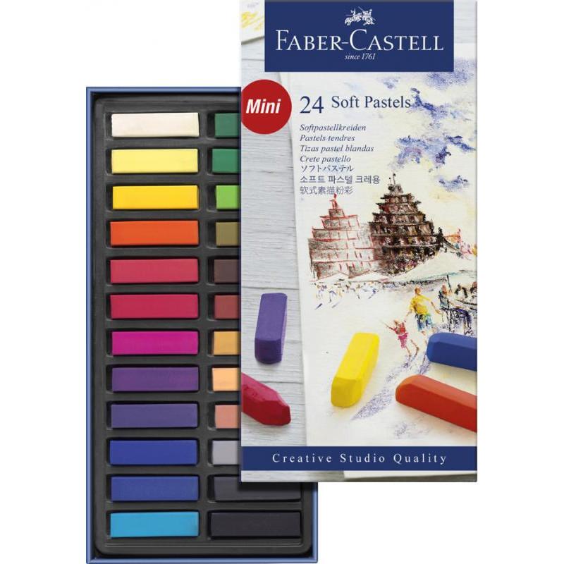Coffrets de demi pastels carré tendres Faber Castell