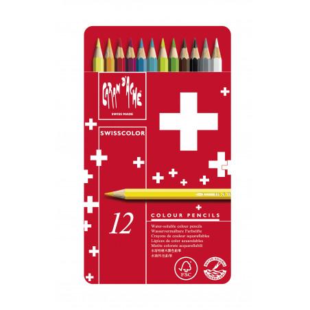 Boîte de crayons aquarellables Swisscolor
