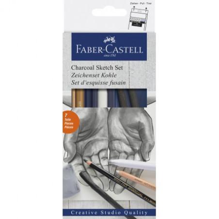 Set d'esquisse Fusain Faber Castell